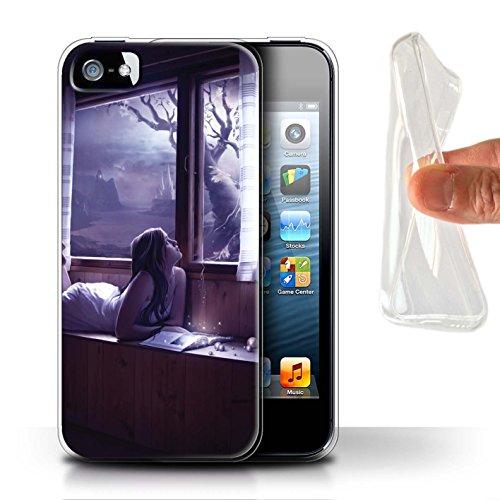 Officiel Elena Dudina Coque / Etui Gel TPU pour Apple iPhone SE / Luz Sombra Design / Art Amour Collection Distraits