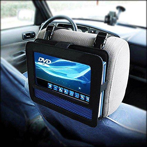 Auto KFZ Kopfstützenhalterung Kopfstütze Halterung, RUISIKIOU Auto Kopfstützenhalterung für Drehgelenk & Flip Tragbarer DVD Player KFZ Kopfstütze Halterung Gehäuse (9-9.5 Zoll ) - 7