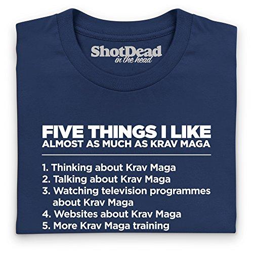 Five Things I Like - Krav Maga Langarmshirt Funny Novelty Gift, Herren Dunkelblau