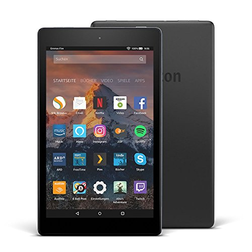 Fire HD 8-Tablet mit Alexa, 20,3 cm (8 Zoll) HD Display, 16 GB (Schwarz), mit Spezialangeboten (Amazon Deals)