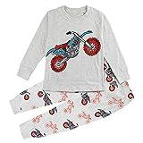 Mombebe Pyjama Hiver Enfant Garcons Ensembles Moto Vêtements De Nuit (Moto, 4 Ans)