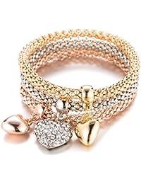YouBella Jewellery Gold Plated Charm Bracelet for Women (Golden)(YBBN_91540)