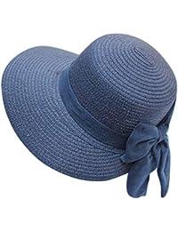 Amayay Beanie Beach Hat Papillon Cappello Elegante Ladies di Paglia Cappello  Stile Semplice da Sole Estate Pieghevole Protezione Solare… 4d4778900b40