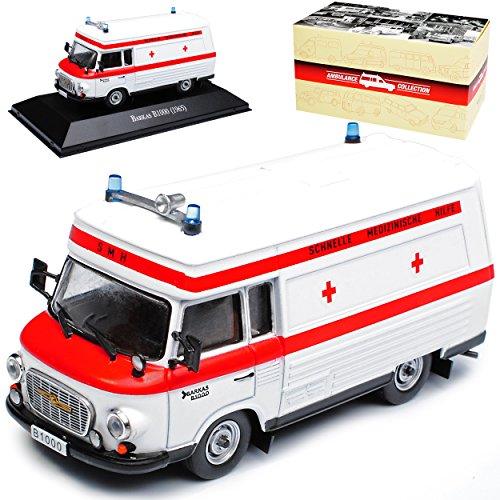 alles-meine.de GmbH Barkas B1000 SMH Schnelle Medizinische Hilfe DDR Ambulanz Krankenwagen Weiss 1961-1990 1/43 Atlas Modell Auto