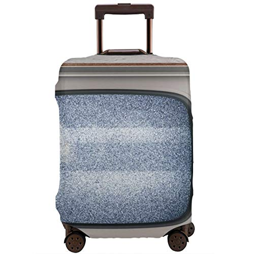 Travel Suitcase Protector,Old Television On A White Wall Background 3D Illustration,Suitcase Cover Washable Luggage Cover S (Samsung 26 Tv)