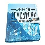 Chinget Reisepass Schutzhülle Karikatur Muster Premium PU-leder Passhülle Halter Reisebrieftasche mit RFID Blockier - hält den Pass, Visitenkarten, Kreditkarten, Bordkarten Sicherer (Gletscher Muster)