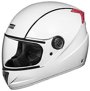 Studds Professional Full Face Helmet (White and Black, L)
