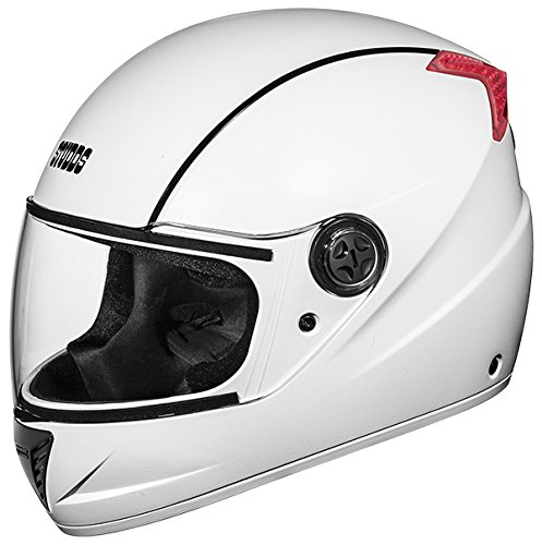 Studds Professional Full Face Helmet (White and Black, L)