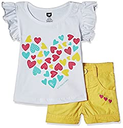 612 League Baby Girls Clothing Set (ILS17I75012-3 - 6 Months-Yellow)