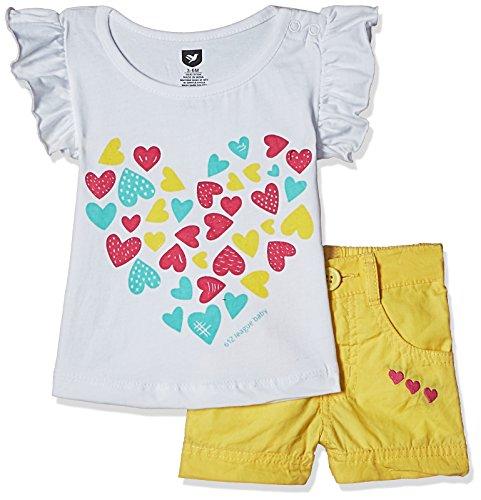 612 League Baby Girls' Clothing Set (ILS17I75012-12 - 18 Months-YELLOW)