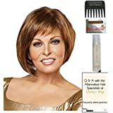 Pearl Wig by Revlon, 15 Page Christy's Wigs Q & A Booklet, 2oz Travel Size Wig Shampoo, Wig Cap & Wide Tooth Comb COLOR SELECTED: 4/6R COFFEE BEAN