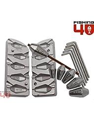 Hexagonal in-liner pesca molde 20 – 30 – 40 ...