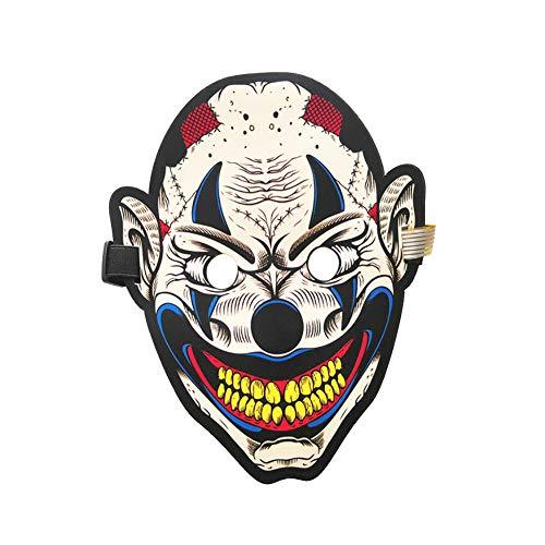 AchidistviQ Halloween-Clown-Maske für Kostüm, Tanz, Rave Party, Konzert, Cosplay 20#