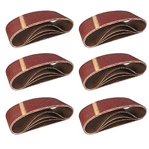 10pezzi di tessuto Nastri abrasivi 75X 457mm Grana da 2X 40/60/80/120/180per levigatrice a nastro/nastro