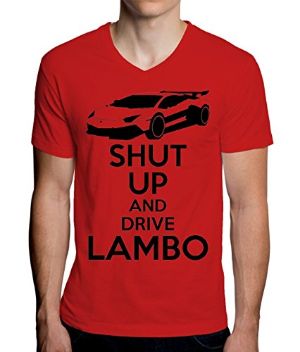 Shut Up And Drive Lambo Men's V-Neck T-Shirt - Lamborghini-shirt