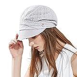 SIGGI Damen Schirmmütze Sommerhut faltbare Barett Mütze mit Visor Grau