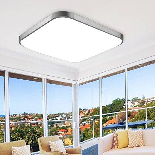 EtimeR 64W LED Deckenleuchte Dimmbar Deckenlampe Modern Wohnzimmer Lampe