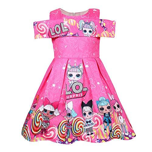 Kostüm Kleinkind Katze Kitty - ShiJinShi Mädchen Kleid mit Schleife, Rot, Pink, Alter 3-8 Jahre Gr. 4-5 Jahre, Style02