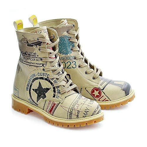 Authentic Damen Damen High Heel (Army Airplane Long Boots TMB1011)