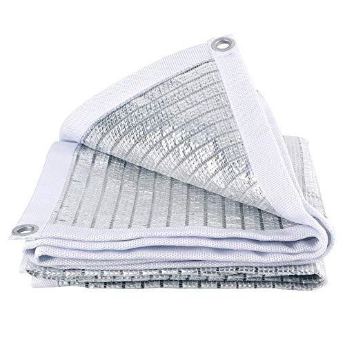 Kzf Metallschnalle Aluminiumfolie, Sonnenschutz Tuch Schatten net benutzerdefinierte Reflexion Verschlüsselung saftigen Sonnenschutz Gewächshaus Schattenabdeckung,1x1m -