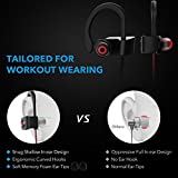 [New Release] Mpow Running Headphones, IPX7 Waterproof Bluetooth 4.1 Headphones In-ear Earbuds, Wireless Sports Earphones for Gym Cycling Workout for iPhone, iPad, Samsung, Nexus, HTC, Siri with Built-in Mic