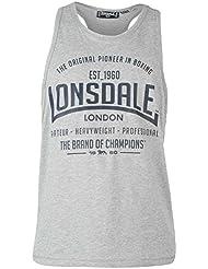 Lonsdale Hombre Cajas Tank Top aermel los U de recorte Sportshirt steelysports