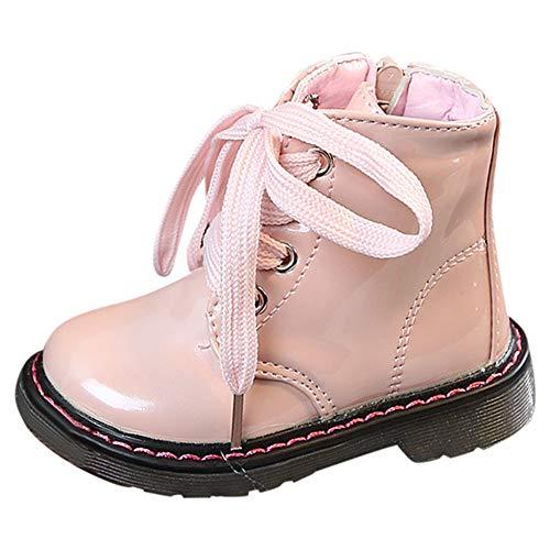 (cinnamouJungen-Mädchen Sneaker lädt warme Schnee-Schuhe Baby-beiläufige Schuhe auf Winter Leder Stiefel)
