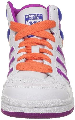 adidas Originals - Scarpe da ginnastica Topten Hi K, Unisex - bambino Bianco (Blanc (White Ftw/True Blue))