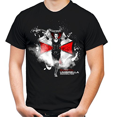 r und Herren T-Shirt | Umbrella Corporation Zombie ||| M2 (L, Schwarz) ()