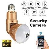 Balscw-J Sicherheitslicht mit Kamera Flash HD LED WiFi Hidden Camera Night Light Bulb Kameras Mit Blick Baby/Pet Monitor Home Indoor