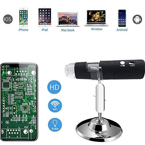 (Industrielles HD-Elektronenmikroskop, 50X Bis 1000X Vergrößerung 2 Millionen Pixel Wireless Wifi Digital Mikroskop)