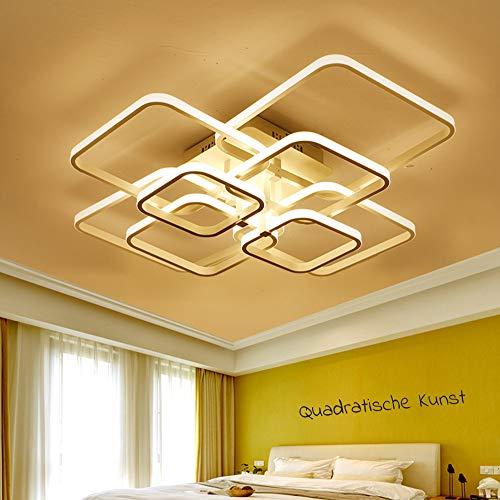 LED Deckenleuchte Wohnzimmerlampe Esszimmerlampe Dimmbar 3000K-6500K Fernbedienung Deckenlampe Modern 8 Eckig Design Acryl-Schirm Decken-Pendelleuchte Esstisch-Leuchten Schlafzimmer Küche Flur Lampen