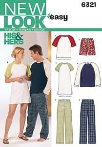 New Look Patron de couture - 6321 Miss/homme & Lounge Kimono Taille A/toutes les tailles)
