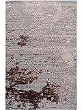 Benuta Flachgewebeteppich Frencie Beige/Braun 200x285 cm - Vintage Teppich im Used-Look