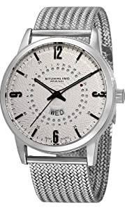 Stührling 345M.33112 345M33112 - Reloj analógico para hombre, correa de acero inoxidable color plateado de Stührling