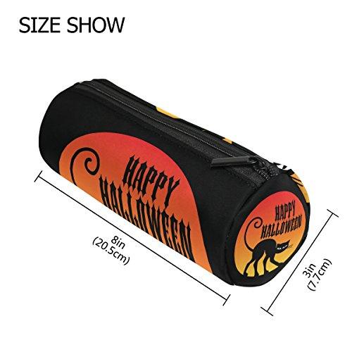 een mit Schwarz Cat Federmäppchen Pen Tasche mit Reißverschluss Organizer Make-up costmetic Tasche für Frauen Mädchen Jungen Teenager Kinder ()