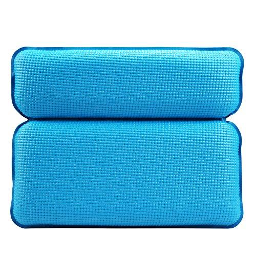 LEADSTAR Badewannenkissen Weiches Badekissen Nackenkissen Wannenkissen mit starken Saugnäpfen für Home SPA in der Badewanne oder im Whirlpool (Blau)