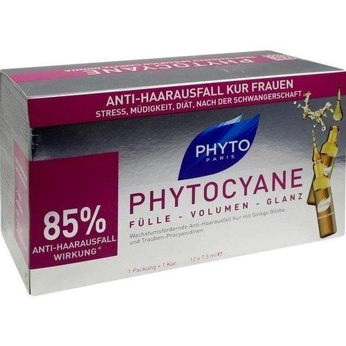 PHYTO PHYTOCYANE Ampullen gegen Haarausfall FRAUEN 12x7,5ml