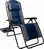 Quest Ragley Pro Relax Chair Camping Caravan Folding Recliner Relaxer | Blue