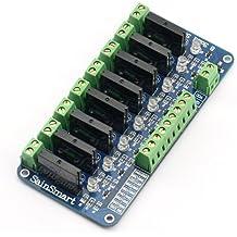 SainSmart - Tarjeta de relés para robot Arduino (8 canales)