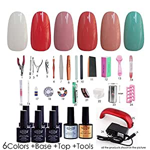 nddn vernis a ongle uv led gel nail colors gel kit with uv light nail tool