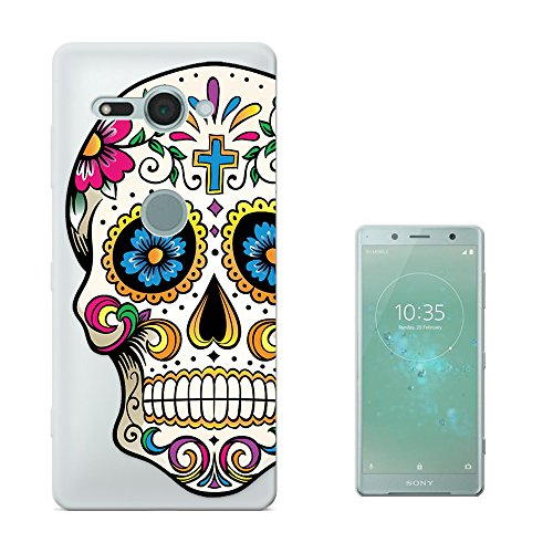 c00858 - Cool Funny Mexican Sugar Skull Flower Cross Tattoo Design Sony Xperia XZ2 Compact 5.0