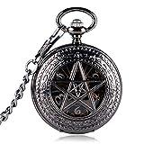 Retro Taschenuhr, Exquisite Skelett Pentagramm Taschenuhr für Herren, mechanischen Hand Wicklung Taschenuhr Geschenk