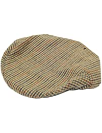 Hawkins Tweed Country Herringbone Flat Cap A14 - Green - 58Cm