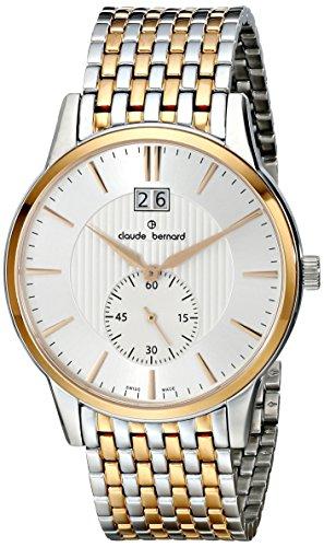 Claude Bernard Men's 64005 357RM AIR Classic Gents Analog Display Swiss Quartz Two Tone Watch