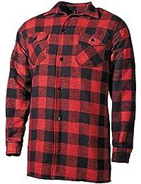 Holzfällerhemd, rot/schwarz, kariert Größe: XXXL