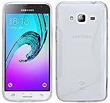 ENERGMiX S-Line TPU SchutzHülle für Samsung Galaxy J3 2016 (J320F) Silikon Hülle Etui Case Cover Silikontasche Silikonschale in Transparent