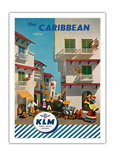 the-caribbean-royal-dutch-airlines-klm-vintage-airline-travel-poster-by-j-f-van-der-leeuw-c1960s-pre