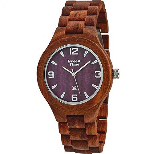 Uhr Zzero Green Time zw005e Quarz (Batterie) Holz Quandrante braun Armband Holz