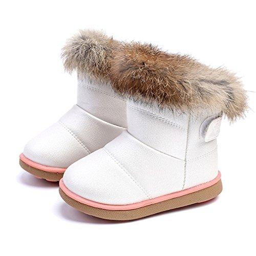KVbaby Botas de Nieve para Niños Invierno Botines Calentar Botas De Nieve Ante Anti-Deslizante Zapatos...